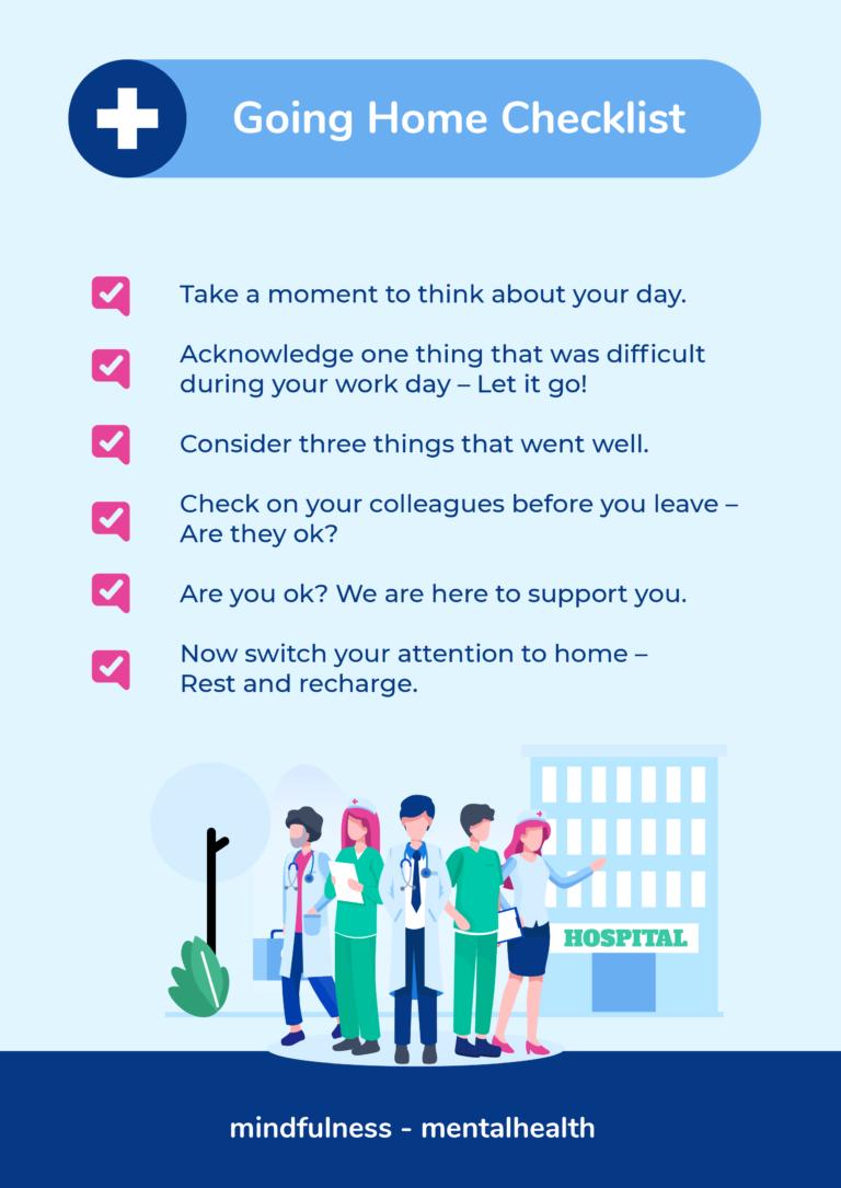 Going home checklist - Mndfulness Mentalhealth