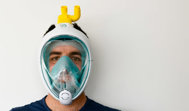 Italian technology start-up Isinnova use snorkel to help coronavirus ventilation problem