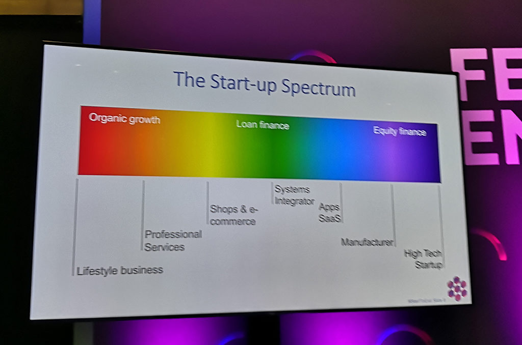 start up spectrum - organic Growth - Loan - Equity